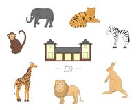 Vector illustration zoo animals isolated on white background stock illustration