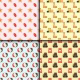 Vector Illustrationen Musterschönheits-Verfahren Wellness der Schönheitsbadekur nahtlosen Stockfoto