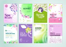 Set of beauty brochure, annual report, flyer design templates in A4 size Stock Photography