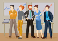 Vector illustrations of business people. Vector illustrations of business men and women in different poses in flat style Royalty Free Stock Photography