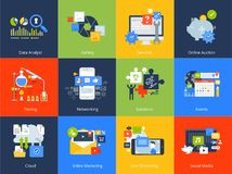 Flat design concept icons. royalty free illustration