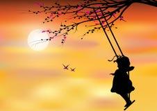 Vector illustrations, Children Play swings Stock Image