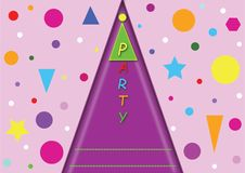 Childrens party card. vector illustration