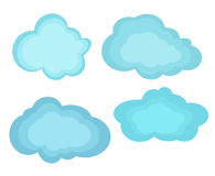 Vector illustrations clouds Royalty Free Stock Image
