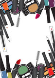 Vector illustrations of cosmetics Stock Photography