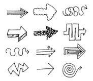 Hand drawn vector arrow set Stock Photography