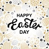Easter decorative eggs card Royalty Free Stock Images