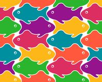 Vector illustrations of fishes on white background stock illustration