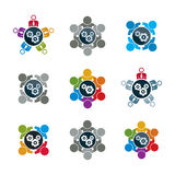 Vector  illustrations of gears - enterprise system theme, busine Stock Photography
