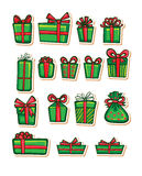 Vector illustrations of Gifts Stock Photography