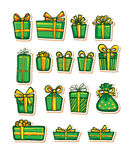 Vector illustrations of Gifts Royalty Free Stock Photography