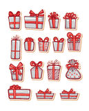 Vector illustrations of Gifts Stock Photo