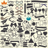 Vector illustrations. Hipster style. Stock Images