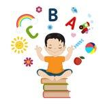 Vector illustrations of kids imagination. Concept of kids imagination. Cartoon style illustration isolated on white background stock illustration