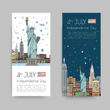 Vector illustrations of New York city Royalty Free Stock Image