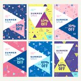 Summer sale banners Stock Image