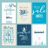 Summer sale banners Royalty Free Stock Photos