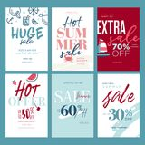 Summer sale banners Royalty Free Stock Photography