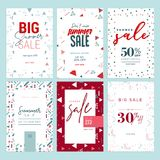 Summer sale banners Stock Photo