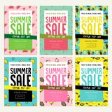 Mobile sale banner templates. Royalty Free Stock Photo