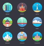 Vector Illustrations Pack Of World Cities stock illustration