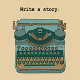 Vector illustrations of retro typewriter Stock Images