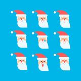 Santa in different emotions vector set Stock Image