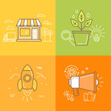 Vector illustrations in trendy linear style Stock Photography