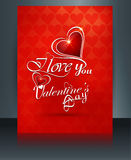 Vector illustrations Valentine's day for brochure template Royalty Free Stock Photo