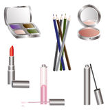 Vector illustrations of various beauty products Stock Photography