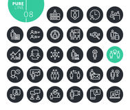 Modern business management line icons set. Vector illustrations for web and app design and development. Premium quality outline web symbols Royalty Free Stock Image