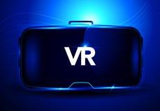 Vector Illustrationskonzept unter Verwendung abstrakter stereoskopischer Schnittstelle vr Gläser der virtuellen Realität 3d, digi Lizenzfreie Stockfotografie