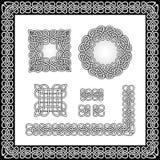 Vector Illustrationsmuster für die Bürste im Stil der keltischen Knoten Lizenzfreie Stockfotos