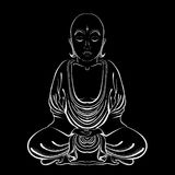 Vector Illustratioon of hand drawn Buddha on a white background. EPS Stock Illustration