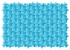 Jigsaw puzzle. Vector illustratiton of a blue jigsaw puzzle royalty free illustration