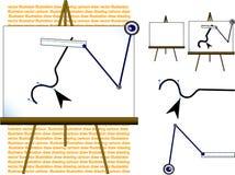 Vector illustrator. Plotting manually the computer drawing Royalty Free Stock Photo