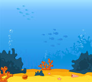 Vector Illustrator of background underwater on the sea.  Stock Image