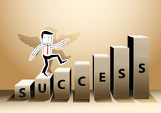 Vector illustrator Businessman stepping up success of a staircas Stock Photography