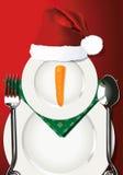 Vector illustrator of Christmas table setting. Royalty Free Stock Photography
