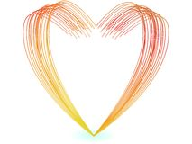 Vector illustrator of Colorful lines heart shape Stock Photography
