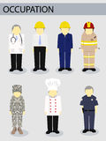 Vector illustrator job occupation work concept. Vector illustrator job occupation work Stock Image