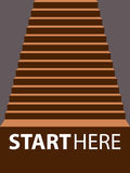 Vector illustrator ladder start hike up staircase concept Stock Image