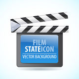 Vector illustrator of media player icon. Stock Images