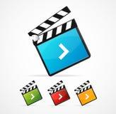 Vector illustrator of media player icon set Royalty Free Stock Photo
