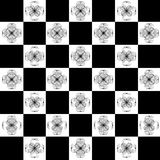 Vector illustrator of squares white and black flower Royalty Free Stock Images