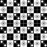 Vector illustrator of squares white and black flower Stock Images