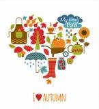 Vector illustratuon of autumn. Royalty Free Stock Photo