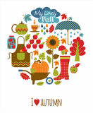 Vector illustratuon of autumn. Royalty Free Stock Image