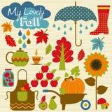 Vector illustratuon of autumn. Royalty Free Stock Photos