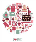 Vector illustratuon of bakery. Stock Photo